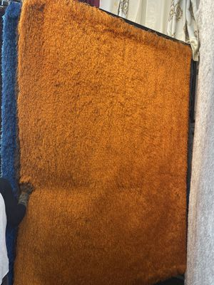5x7 rust super soft long hair shaggy rug brand new shaggy carpet for Sale in Los Angeles, CA