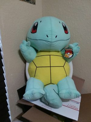 """RARE New w/ Tags Giant 34"""" Squirtle Pokemon Bean Bag Pikachu for Sale in Copperas Cove, TX"""