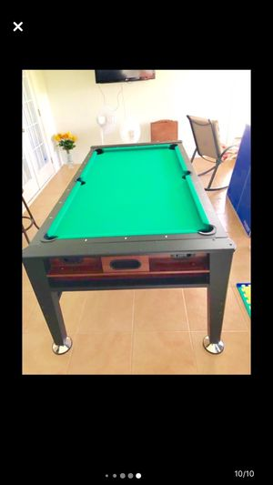 """3 In One Clasic Sport Pool Table, Air Hockey & Ping Pong / 7ft-L X 42""""-W X 32 1/2-H for Sale in Lakeland, FL"""