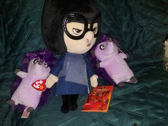 Beanie baby Purple Hedgehog 2 And 1 Incredible Doll for Sale in Los Angeles,  CA