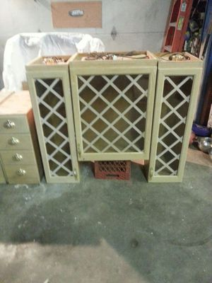 Glass kitchen cabinets & 2 base for Sale in Fenton, MO