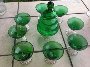 Antique green glass wear for Sale in Belle Isle, FL