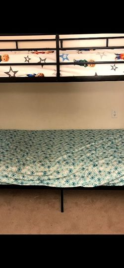 Twin Bunk Bed( NO MATTRESS) for Sale in Detroit,  MI