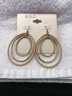 Bold Elements Gold Toned Three Oval Hooped Earrings for Sale in Shepherdstown, WV
