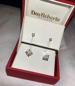 Diamond earrings 14k for Sale in La Puente, CA