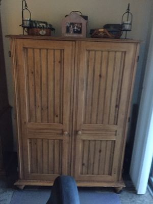 Solid wood computer cabinet for Sale in Columbus, OH