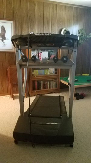 Pro-form 350 S cross trainer Treadmill with 3 and 5lb weights for Sale in Williamstown, WV