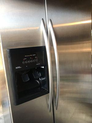 kitchenaid superba stainless steel refrigerator for Sale in Alexandria, VA