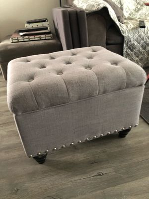 Gray storage ottoman from Target Threshold for Sale in City of Industry, CA