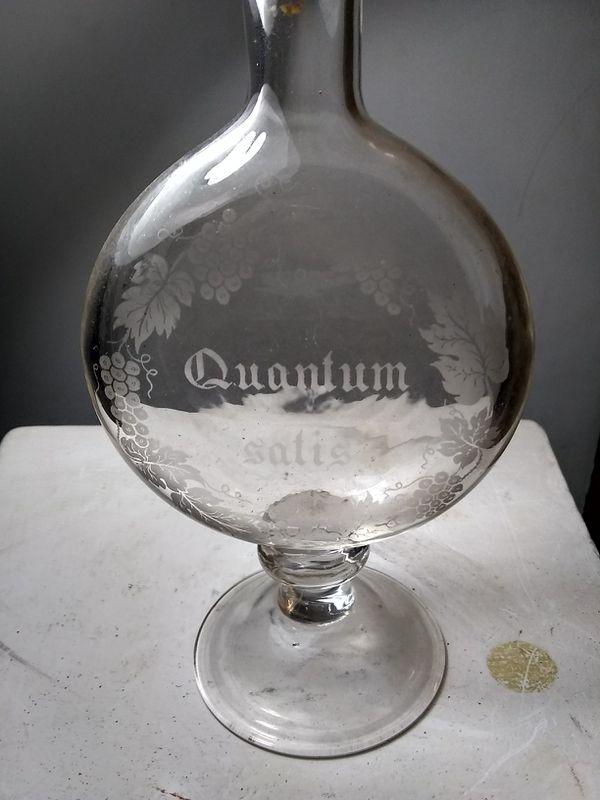 Vintage Etched Glass Decanter