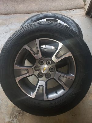 2016 Chevy Colorado wheels, set of 4 or trade for utility trailer for Sale in Kennesaw, GA
