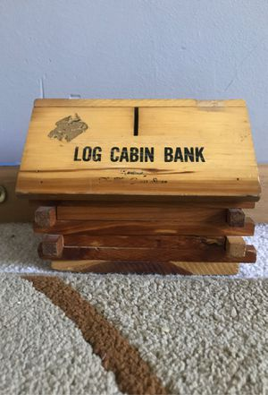 log cabin piggy bank for Sale in Elgin, IL