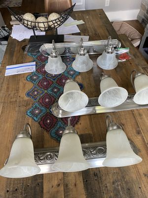Set of 3 wall lamps for bath. for Sale in Sharpsburg, GA