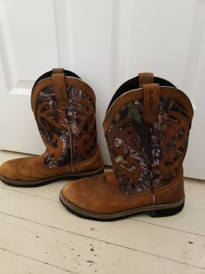 Camo Antler Work Boots 11.5D for Sale in Houston, TX