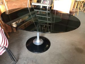 Mod Mid Century Smokeglass Dining Table for Sale in Rosemead, CA