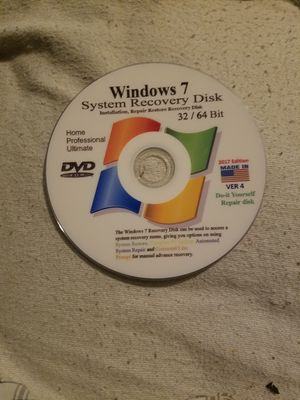 Windows 7 startup/Repair recovery Disc for Sale in Spring, TX