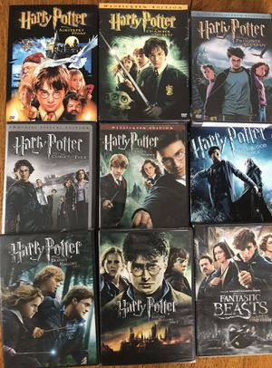 Harry Potter and Fantastic Beasts 9-Film Collection all for $35 Disney marvel Harry Potter DC movies Bluray and dvd collectibles for Sale in Everett, WA