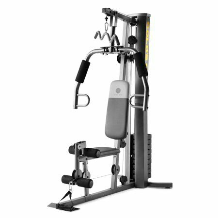 Gold's Gym XRS 50 Home Gym with High and Low Pulley System 23c