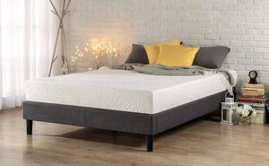 SALE!!! Brand new 12 inch memory foam mattress $150 & $75 upholstered platform bed frame or deal 200 for both for Sale in Columbus, OH