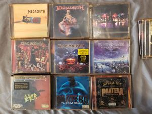 43 CDs Nirvana Beastie Boys Pantera Mega Death Iron Maiden Pink Floyd Gwar U2 Slayer Metallica Van Halen Ozzy for Sale, used for sale  Jersey City, NJ