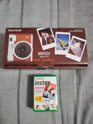 Instax mini 90 Neo Classic Fujifilm instant camera 2 film included for Sale in Houston, TX
