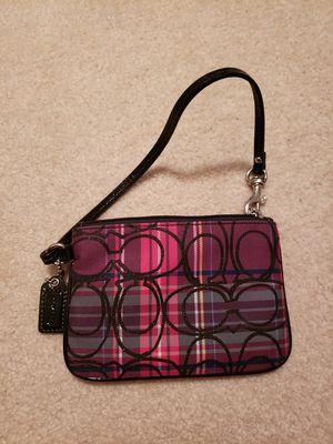 Plaid coach wristlet/coin purse for Sale in South Jordan, UT