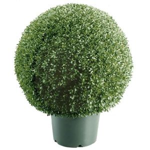 New 22 in. Mini Boxwood Ball Shaped Artificial Topiary Tree in 9 in. Round Green Growers Pot by National Tree Company for Sale in Houston, TX