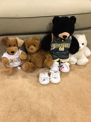 Build a bear stuffed animals for Sale in Bellevue, WA