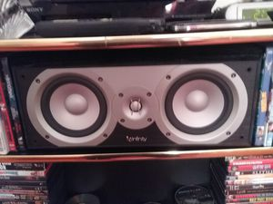 Infinity Center Channel Speaker Primus C25 Very Powerful with a free LG Bluetooth Subwoofer for Sale in MONTGOMRY VLG, MD