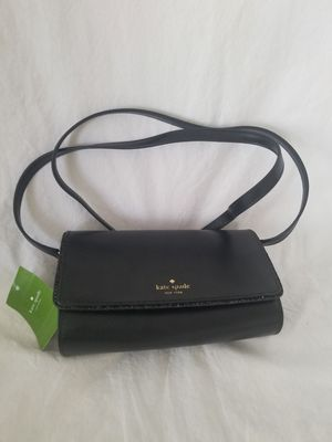 Kate Spade Connie Seton Drive City Scape Glitter Wallet Black Leather Cross Body Bag for Sale in Las Vegas, NV