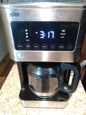 Braun BrewSense Touch Screen Coffee Maker 12 Cup, Stainless Steel for Sale in Oklahoma City, OK