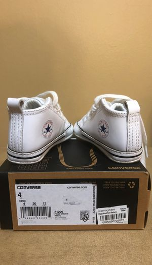 Converse sneakers infant size 4 for Sale in Monroe Township, NJ