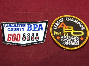 Vintage Bowling Patches BPA ABC 600 Club League Champ 1969 1970 Retro for Sale for sale  New Holland, PA