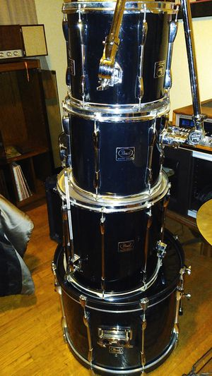 PEARL EXPORT Series drumset comes with so many extras look at the pics😎 for Sale in Lombard, IL