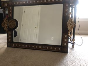 Antique vanity set (table + mirror) for Sale in NO POTOMAC, MD