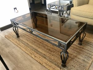 Elegant Stained Glass Iron Coffee Table Set Juego de Mesas de Sala for Sale in Miami, FL
