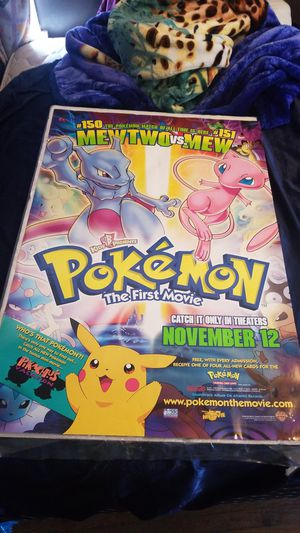 Pokemon first movie original poster for Sale in Pasadena, CA
