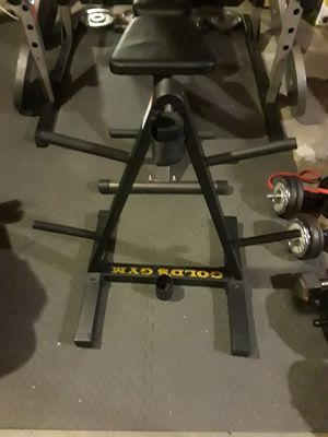 Golds gym weight and barbell holder for Sale in Ashland, MA