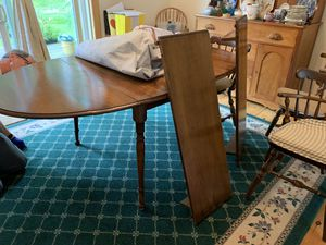 50 year old Maple wood dining table and 5 chairs for Sale in Merepoint, ME