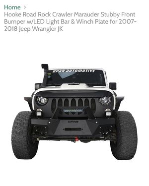 Jeep Wrangler jk and unlimited front bumper rock crawler marauder stubby front bumper with led bar and winch plate 07-2018 brand new in the box hardw for Sale in Jurupa Valley, CA