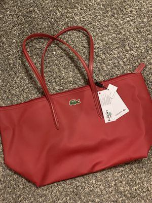 Brand New Lacoste Red Zip Tote Bag for Sale in Fresno, CA