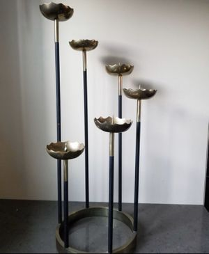 Mid Century Modern MCM Sculptural Cascading Brass and Black Dining Candle Holder Curtis Jere Style for Sale in Scottsdale, AZ