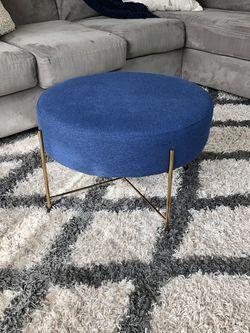 Modern Blue Ottoman / Footstool for Sale in Portland,  OR