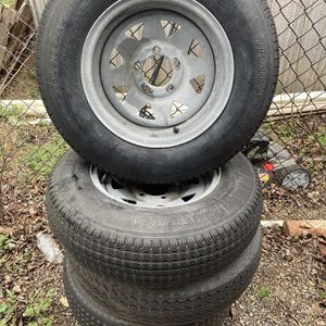 Galvanized Trailer Rim Combo for Sale in Fort Worth, TX