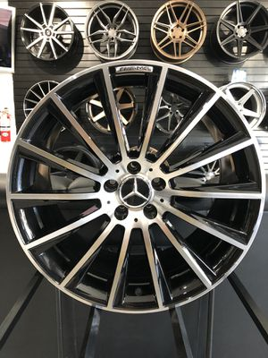 22' staggered Gloss black machine face AMG style wheel fits S550 and CL550 wheel tire rim shop for Sale in Tempe, AZ
