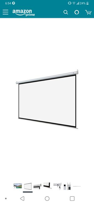 """Projector screen 110"""" for Sale in Brier, WA"""