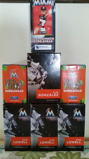 7 MIAMI MARLINS BOBBLEHEADS IN ORIGINAL BOXES for Sale in Fort Lauderdale, FL