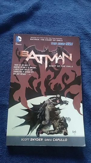 Batman: Night of the Owls Graphic Novel for Sale in Wichita, KS