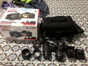 Canon EOS rebel T6 premium kit with accessories for Sale in Dallas, TX