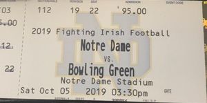Notre Dame vs bowling green tickets for Sale in Notre Dame, IN